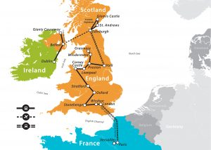 Map Of France And Scotland.2019 British Isles Tour Fun For Less Tours