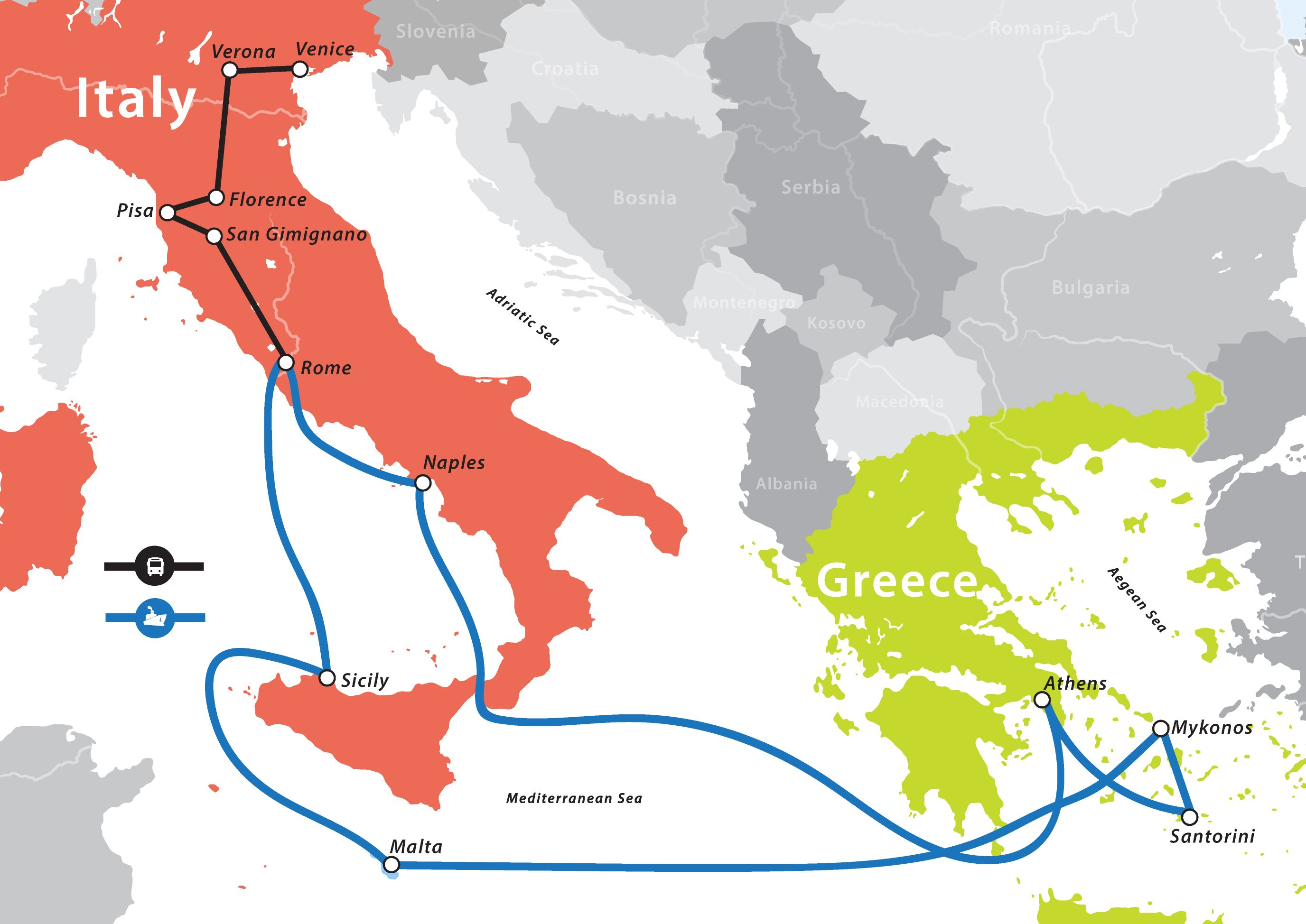 Italy & Greece Cruise – Fun For Less Tours